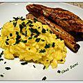 Risotto au safran et au gorgonzola