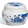 A blue and white jar and cover, ming dynasty, chongzheng period (1628-1644)