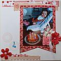 Album de ma nièce : 1er noël et 1er anniversaire