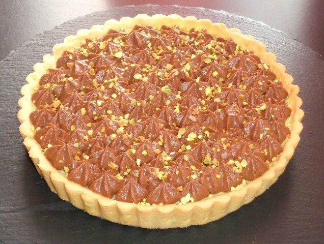 Tarte pistache chocolat