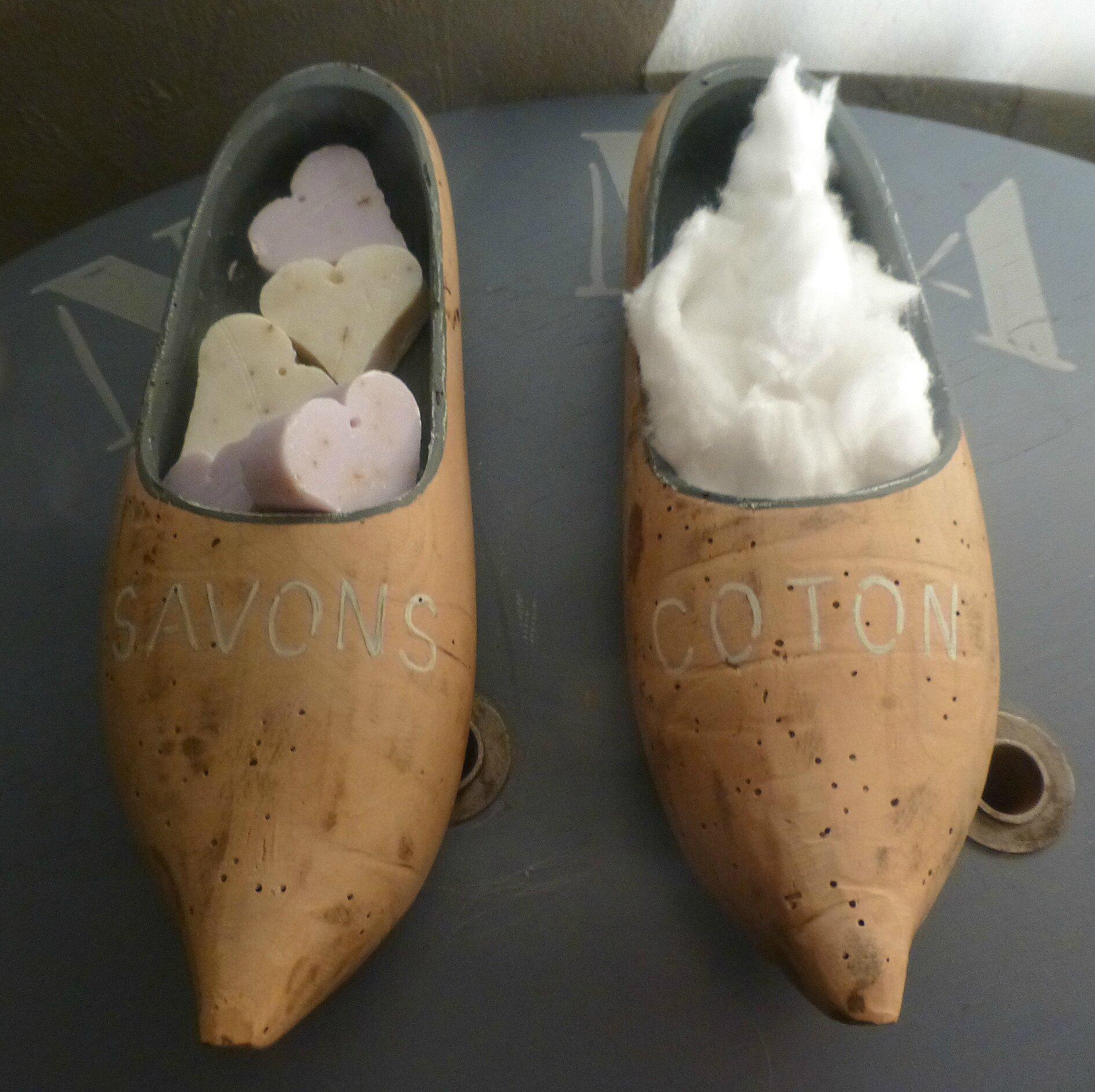 porte-savon et porte-coton sabot