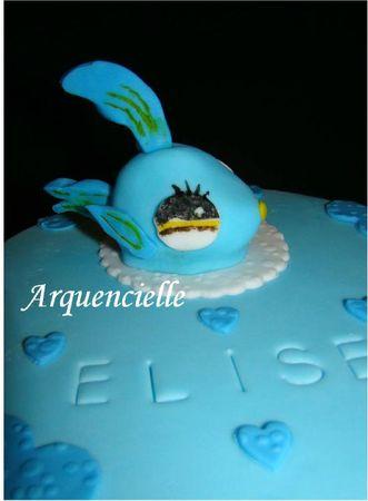 Gâteau Pet shop poisson détail
