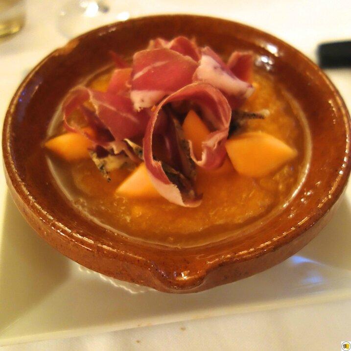 Soupe de melon, jambon cul noir (1)
