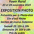 Expo ATELIER PHOTO Caudrot 23-24 novembre 2019