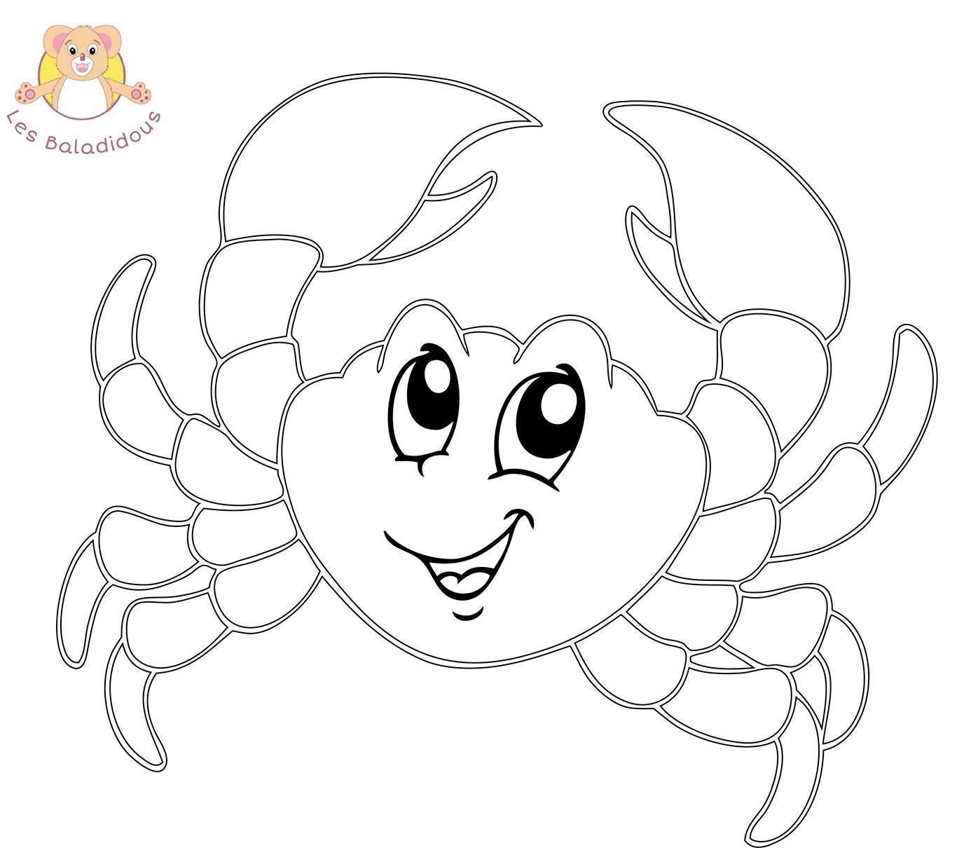 Coloriages mer, plage, animaux marin - Assistante ...