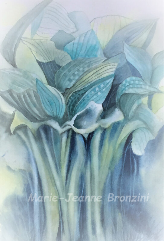 BOUQUET D'HOSTAS
