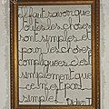 cadre bois et texte fil de fer