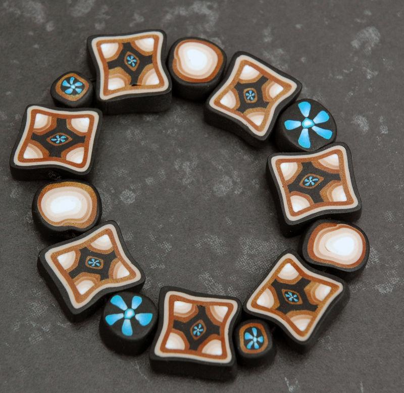 Capuccino - Bracelet en pâte Fimo