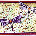 carte automnale avec libellule