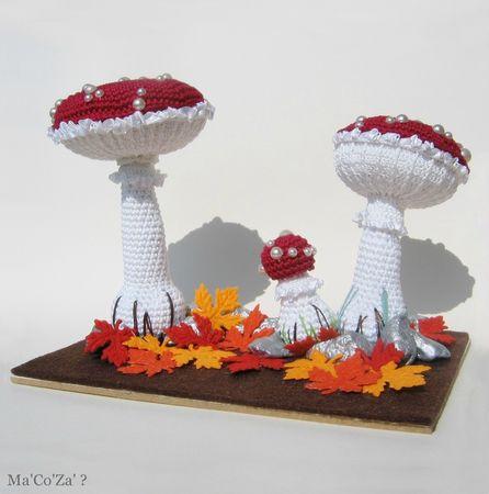 champignon amanite tue-mouche au crochet broderie 2