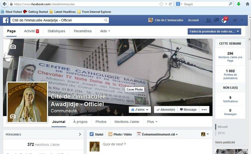 Page officielle de la Cité