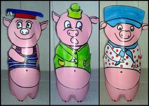 93_Personnages animaux monstres_Les trois petits cochons (finis)