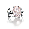 'the pink golconda diamond', a colored diamond and diamond ring, jar