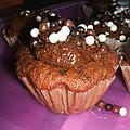 Cup cakes choco-bananes a la mousse au chocolat