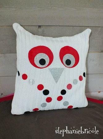 faire soi-même un coussin chouette, comment faire un coussin, diy coussin, diy owl
