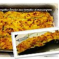Courgettes farcies au mascarpone