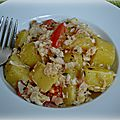 Salade de pommes de terre au cabillaud
