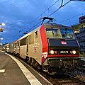 BB 26074 carmillon au départ de l'Intercités pour Marseille, Bordeaux