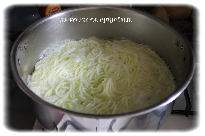 Spaghettis courgettes 3