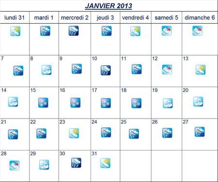 mois janvier 2013