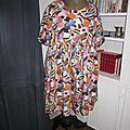 Robe RAYMONDE en coton imprimé ''Je vous ai apporté des bonbons'' à manches raglan - longueur genoux - taille unique (2)