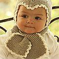 Atelier libre tricot : bonnet et écharpe pour enfant modèle drops design