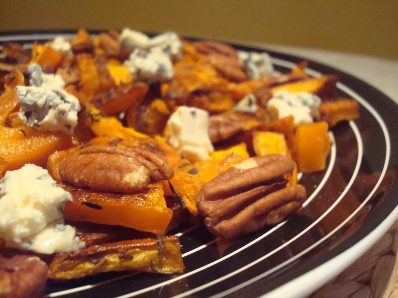 Butternut Squash With Pecans And Blue Cheese Courge Butternut
