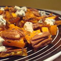 ...butternut squash with pecans and blue cheese... (courge butternut, fromage bleu, noix de pécan,nigella lawson)