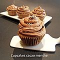 Cupcakes cacao menthe