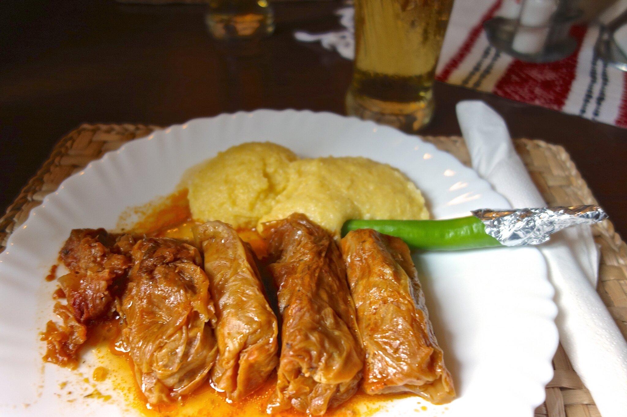 choux farcis - polenta - piment