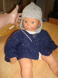 gilet + bonnet en tricot (2)