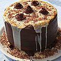 Gâteau d'anniversaire, chocolat coeur framboise