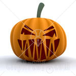 22189_Clipart_Picture_Of_An_Evil_Orange_Halloween_Pumpkin_With_A_Scary_Toothy_Jack_O_Lantern_Face