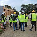 Saint gence : les élèves du lycée des métiers martin nadaud de bellac en visite sur le chantier de construction du gymnase