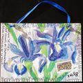 182~Fleurs bleues pour Delf