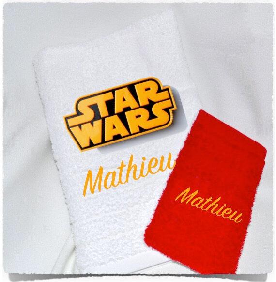 Serviette de douche ou de toilette personnalisé STAR WARS