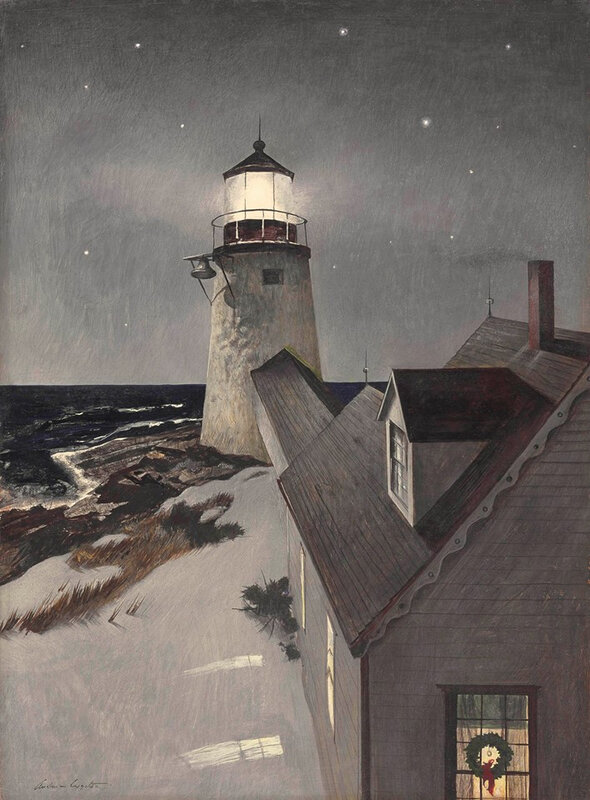 Andrew Wyeth - snowy morning