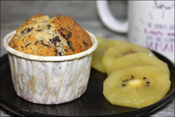 Muffins aux pépites de chocolat...