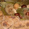 Galette de pain farine de châtaigne et noix