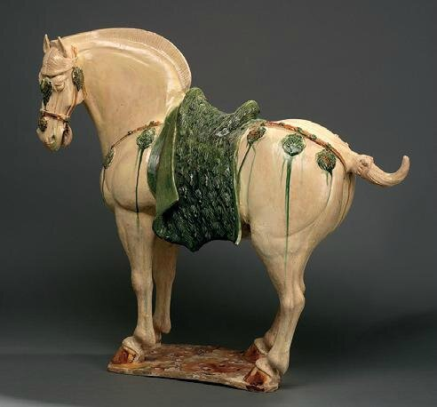 A sancai-glazed horse