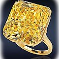 Fancy intense yellow diamond solitaire