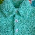 Gilet bebe turquoise 4