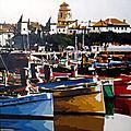 Saint Jean, le port 1930, huile sur toile 60x60 cm