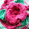 Tea cosy pink flowers 4
