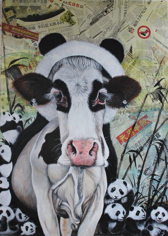Vache-panda (92x65)