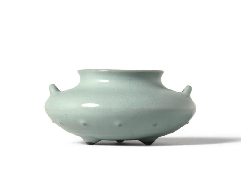 A Fine Guan-Type Censer, Seal Mark and Period of Qianlong