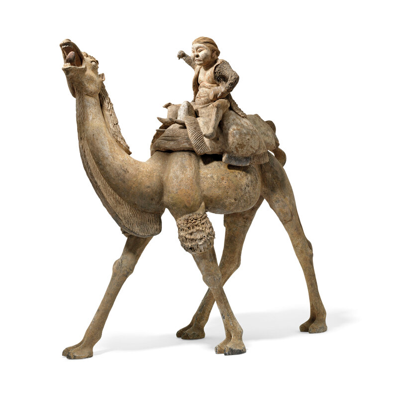 2019_CKS_17114_0004_006(a_massive_painted_pottery_figure_of_a_camel_and_rider_tang_dynasty)