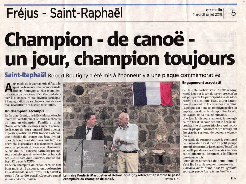 article journal concernant Robert Boutigny