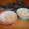 Muffins praliné coeur de nutella