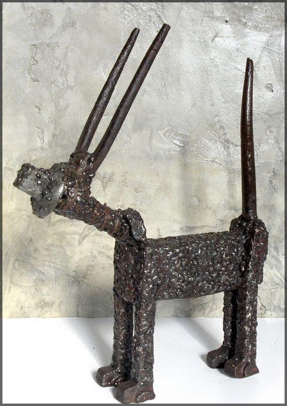 antilope 2 -long 27 cm - haut 34 cm (vendue)
